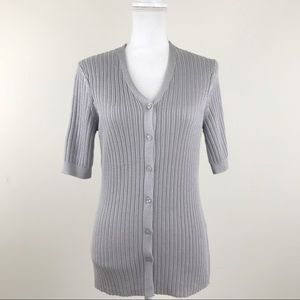 Brooks Brothers Button Front Gray Cardigan Sweater